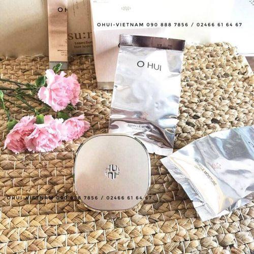 OHUI Miracle Moisture Chiffon Cushion SPF 50+/PA+++ Phấn nước đa tính năng giúp làn da rạng rỡ tự nhiên 15gx3