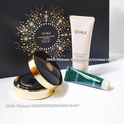 OHUI Ultimate Cover Cushion Set Phấn nước trang điểm 80ml