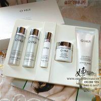 OHUI Extreme White 5pcs  Trọn bộ set dưỡng trắng da tinh thể tuyết minisize dùng thử 90ml