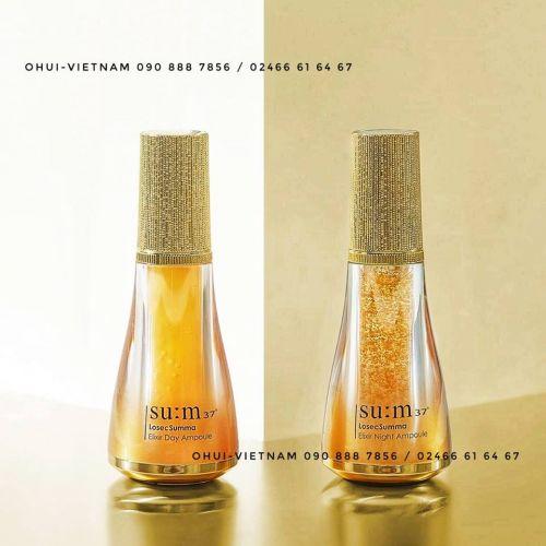 SU:M37 Losec Summa Elixir Ampoule Duo - Bộ đôi Tinh chất vàng 24k Tái sinh da đặc trị Ngày & Đêm 40ml