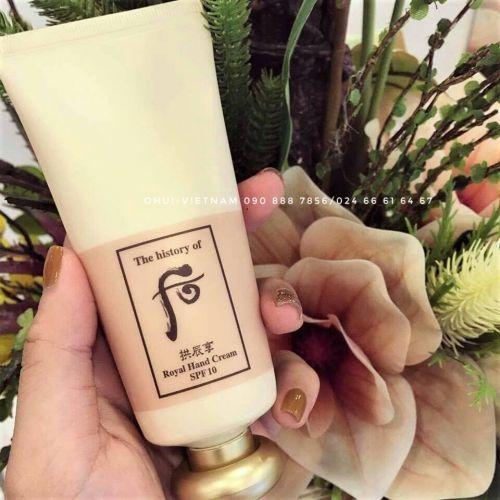 Whoo Royal Hand Cream Kem dưỡng da tay Đông y giải thoát đôi tay khỏi tình trạng nhăn nheo, khô ráp, kém mềm mại 85ml