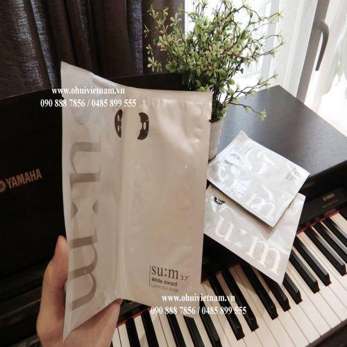 SU:M37 White Award Luminous Mask Mặt nạ dưỡng trắng ngọc trai lên men vi mô 27g