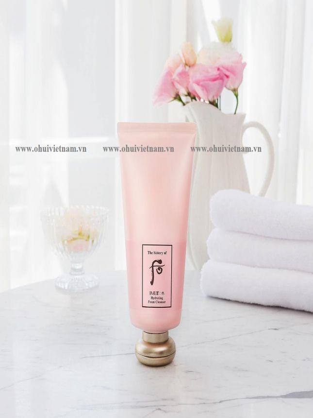Whoo Hydrating Foam Cleanser Gel rửa mặt Đông Y chiết xuất hoa trà cấp ẩm, làm sạch sâu bụi mịn và bã nhờn dành cho da khô và hỗn hợp thiên khô 180ml