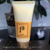 Whoo Facial Cleanser Sữa rửa mặt dưỡng ẩm Đông Y làm sạch nhẹ nhàng cung cấp dưỡng chất thảo mộc phong phú cho da 40ml