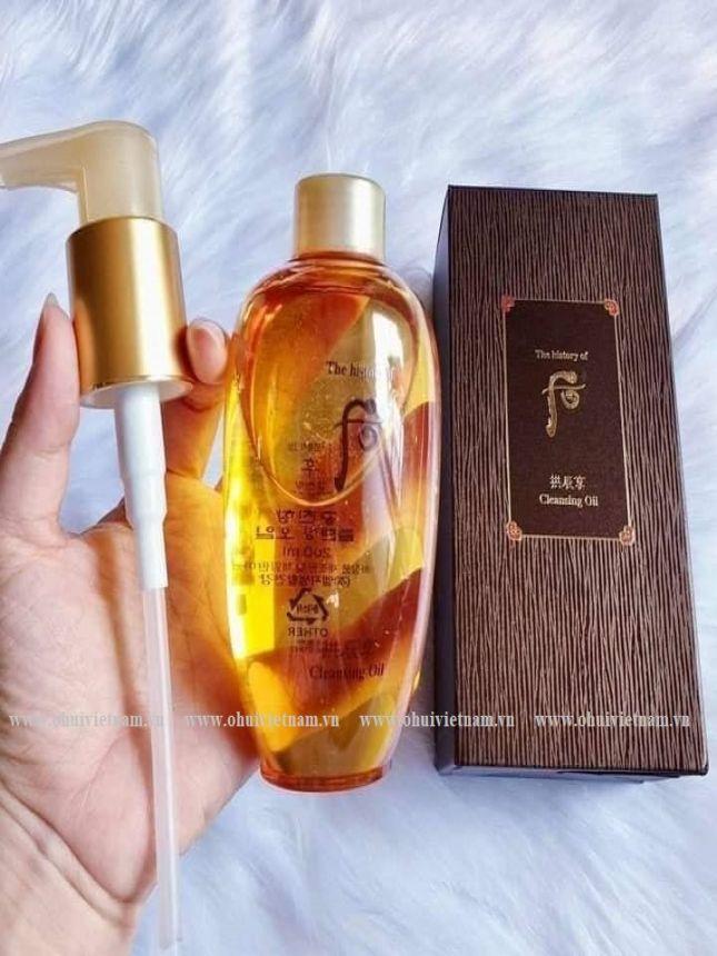 Whoo Cleansing Oil Dầu tẩy trang chống lão hóa Đông Y làm sạch nhẹ nhàng cung cấp dưỡng chất thảo mộc phong phú cho da 200ml
